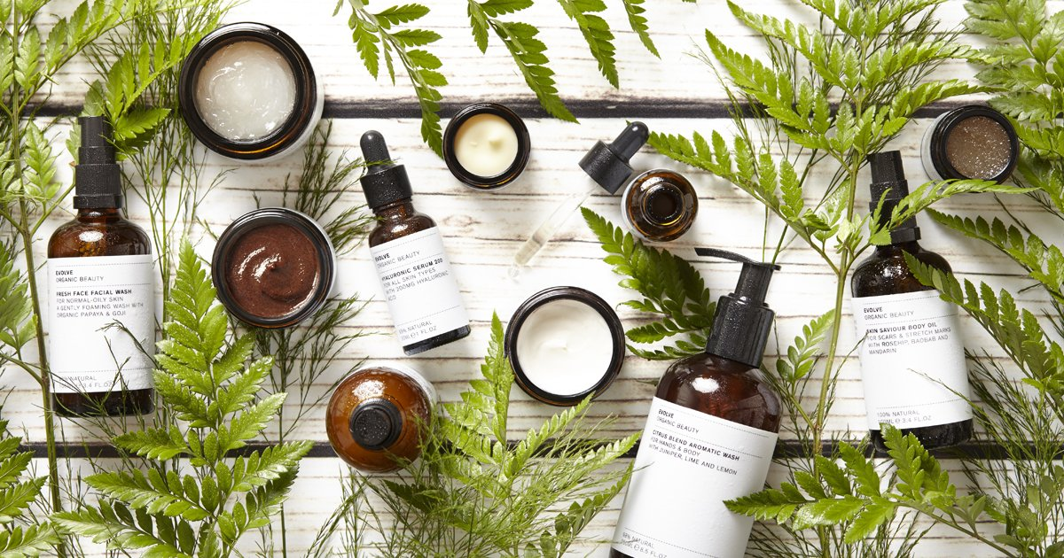 Evolve Beauty Banner tAK vegan products